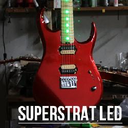 Guitare Custom – Superstrat LED