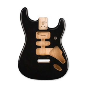 corps stratocaster Fender Deluxe Series noir brillant