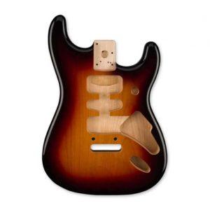 corps stratocaster Fender sunburt 3 tons brillant