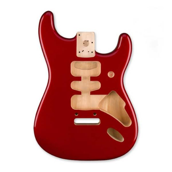 corps stratocaster Fender Deluxe Series candy apple red