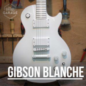 Une Gibson Les Paul 100% Blanche