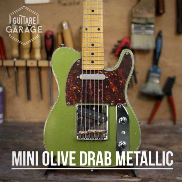 minicaster olive drab metallisé medium relic